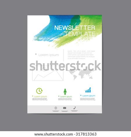 vector newsletter design - stock vector