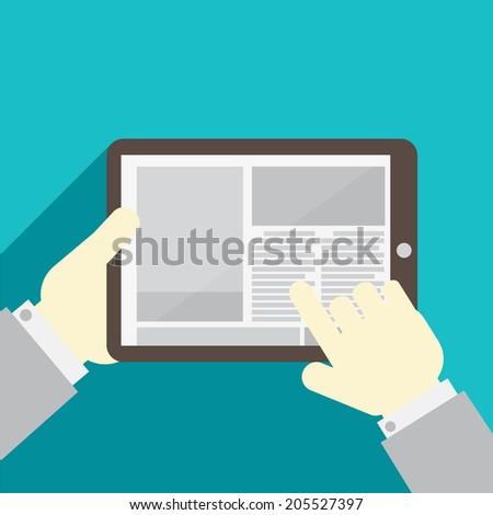 Vector newspaper - stock vector