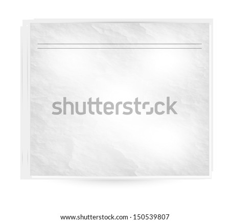 Vector newspapers and news icon. Black and white - stock vector