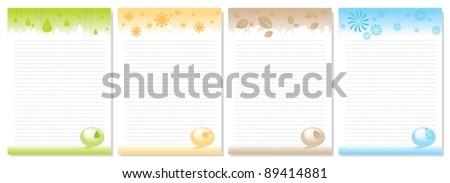vector notebook - stock vector