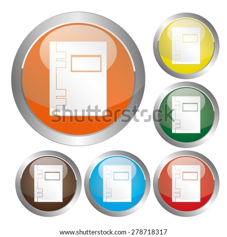 Vector notebook (organizer) icon. - stock vector