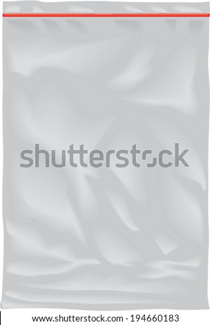 Vector nylon bag illustration - stock vector