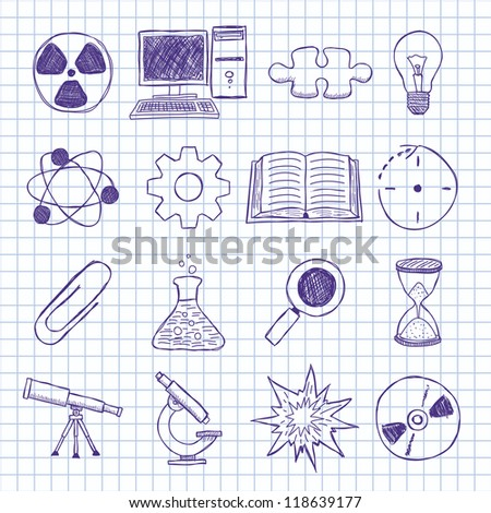 Vector objects on the topic of science - stock vector