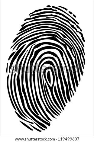 Vector of a finger print - stock vector