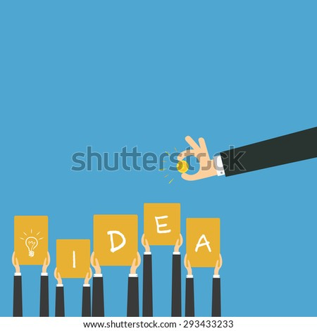 vector of a smart investment. concept of funding,innovative idea or crowd funding  etc. - stock vector