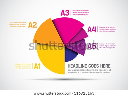 vector of abstract chart and info-graphic - stock vector