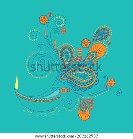 vector of abstract festival element and background - stock vector