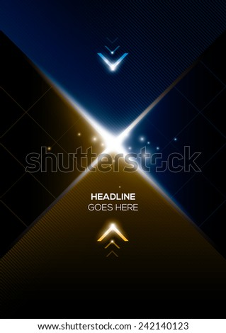 vector of abstract futuristic background - stock vector