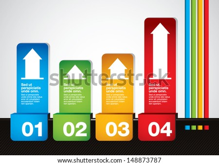 vector of abstract graphics and info-graphics - stock vector