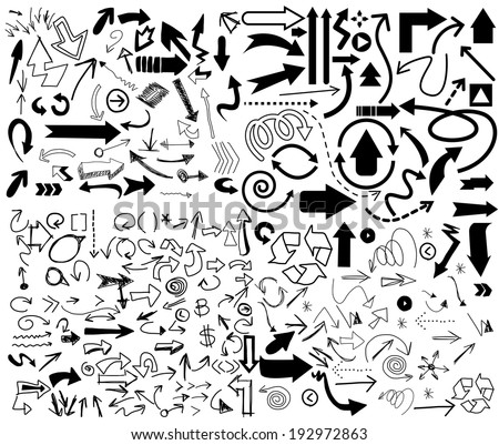 Vector of Big set Arrow - stock vector