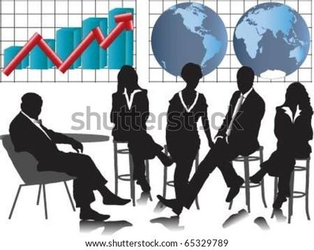 Vector of business meeting. - stock vector