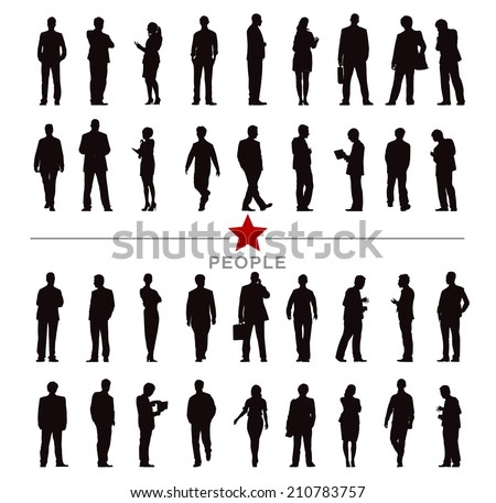Vector of Business People - stock vector