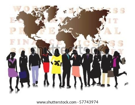 Vector of business people. - stock vector