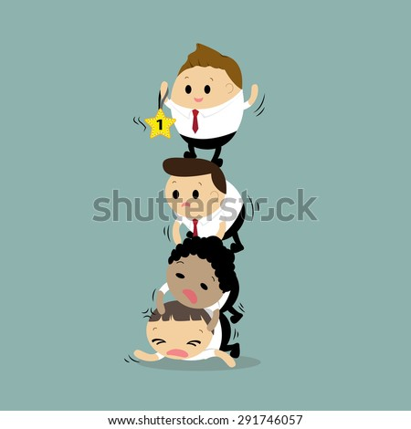Vector of Businessman in concept of competition business people or compete for a better position - stock vector