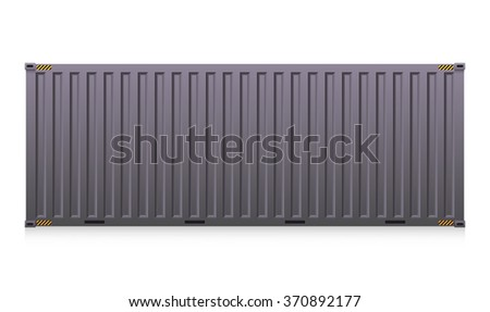 Vector of cargo container isolated on white background. - stock vector