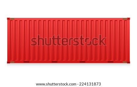 Vector of cargo container or shipping container for logistics and transportation isolated on white background. - stock vector