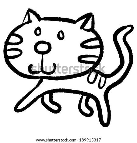 vector of cat - stock vector