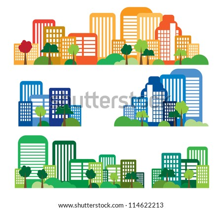 Vector of city skyline - stock vector