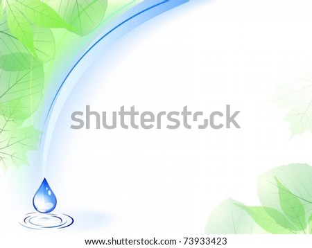 Vector of environmental card with water drop - stock vector
