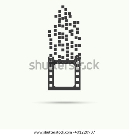 Vector of filmstrip symbol or icon - stock vector
