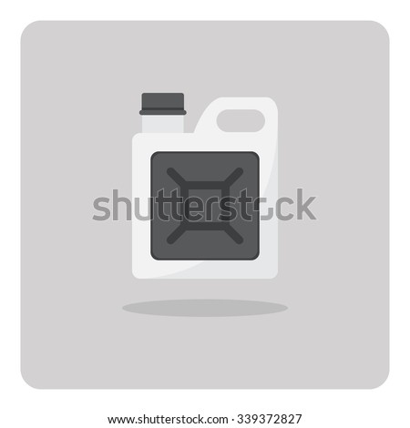 Vector of flat icon, Oil gallon on isolated background - stock vector