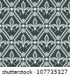 Vector of fleur de lis seamless pattern - stock vector