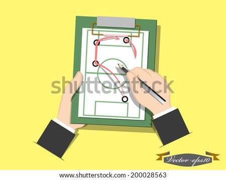 vector of football plan - stock vector