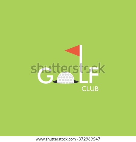 Vector of golf club logo templates. Hipster sport labels with sample text. Elegant vintage icons for organizations and golf clubs. Flat Style Design. - stock vector