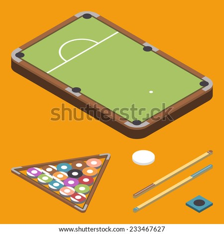 Vector of isometric flat bowling icons set - stock vector
