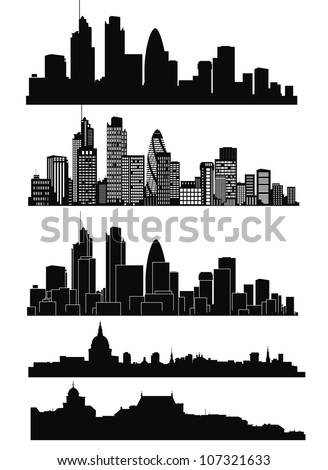 Vector of London skyline - stock vector