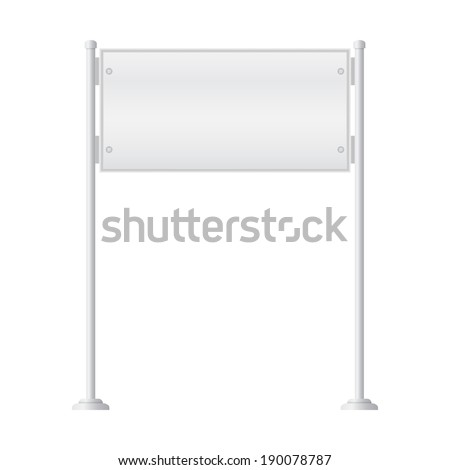 Vector of metal signpost on isolated white background - stock vector