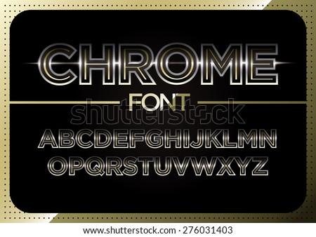 Vector of metallic alphabets - stock vector