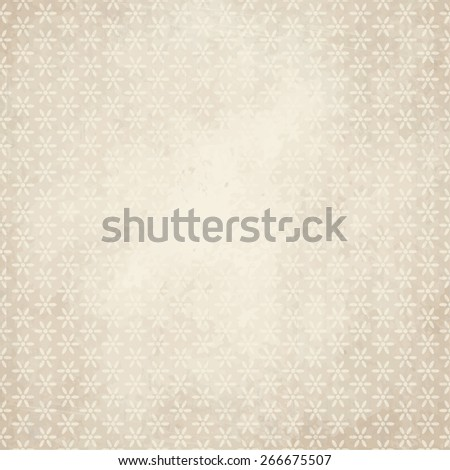 vector of old vintage paper background with flowers - stock vector