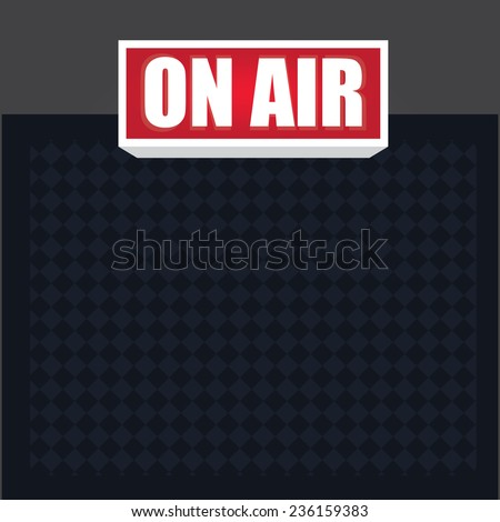 Vector of on air sign in studio - stock vector