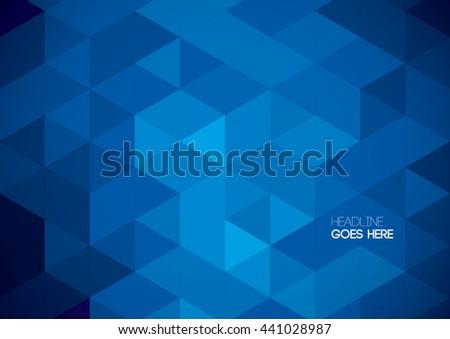 Vector of polygonal background - stock vector