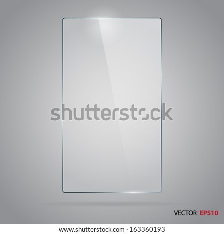 Vector of rectangle glass frame. - stock vector