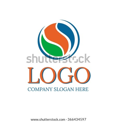 Vector of round sign. Round abstract sign. Logo. Business icon for the company. This concept graphic represents lighting design. Industry. Sport. Fitness classes. Vector illustration. - stock vector