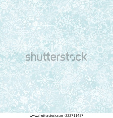 vector of seamless abstract snow flakes background - stock vector