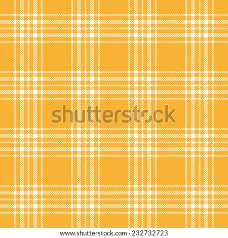 vector of seamless yellow checkered table cloths pattern - stock vector