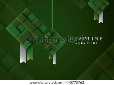 Vector of stylized festive element and background - stock vector