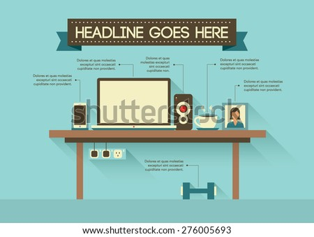 Vector of stylized office object - stock vector