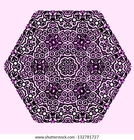 Vector of traditional Islamic Pattern - 6 sides - stock vector
