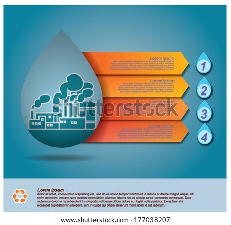 vector of water drop,info graphic design - stock vector