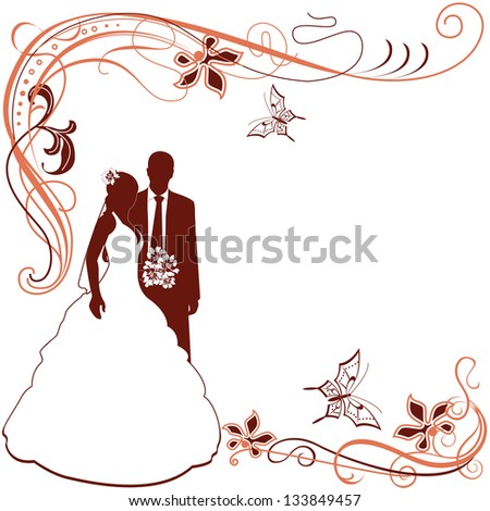 Vector of Wedding card invitation on white - stock vector