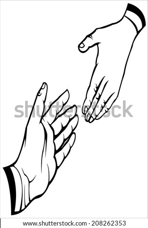 Vector of will shacking hand - stock vector