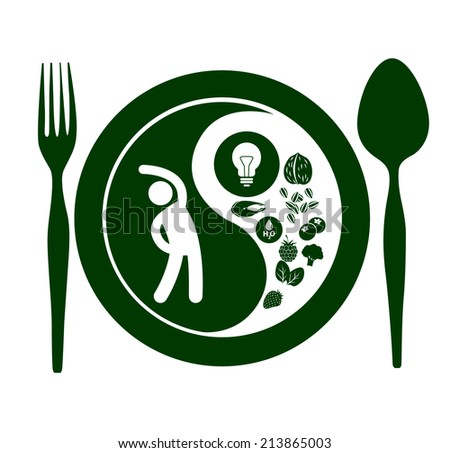 Vector of Yin Yang symbol Healthy harmony and balance - stock vector