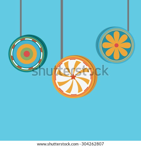 Vector of yoyo.toys - stock vector