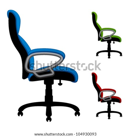 vector office chairs - stock vector
