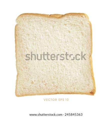 Vector - One slice of bread - stock vector