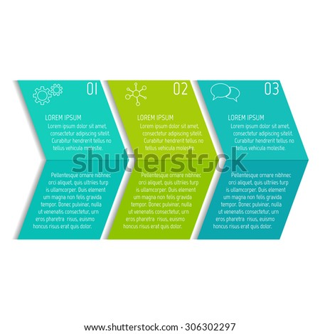 Vector option infographic banners. Number banners template for diagram, graph, presentation or chart. Business concept with 3 steps or processes. EPS10 vector workflow layout. - stock vector